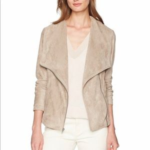 Cupcakes and cashmere suede drape jacket
